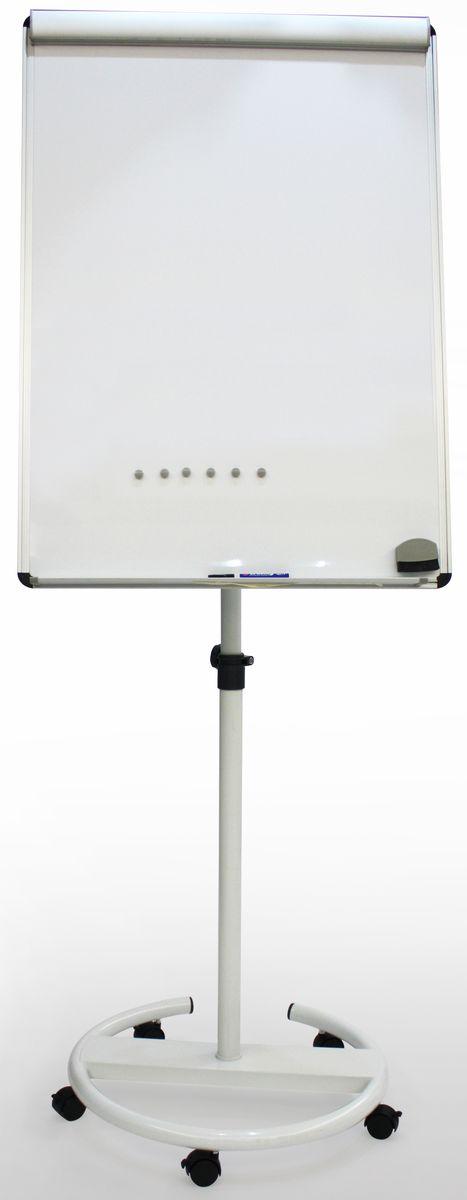 Brauberg Доска-флипчарт магнитно-маркерная 70 х 100 см 231703231703Мобильная доска-флипчарт для проведения презентаций, совещаний. Белая лаковая металлическая поверхность предназначена для письма специальными маркерами и размещения информации с помощью магнитов. Регулируемая высота. Держатель для бумажного блока.