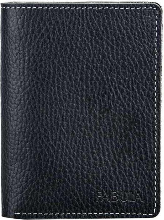 Обложка для паспорта мужская Fabula Blackwood, цвет: черный. O.11.UFO.11.UF.черныйОбложка для паспорта из коллекции Blackwood выполнена из натуральной зернистой кожи. Имеет на внутреннем развороте два кармана из кожи.