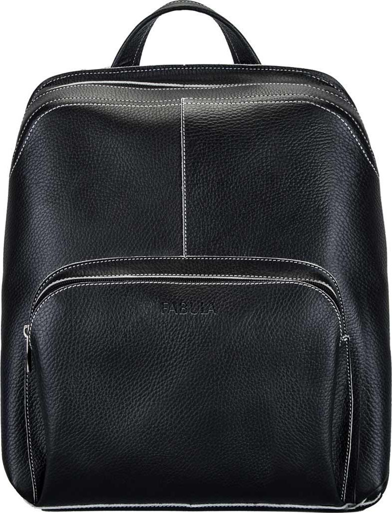Сумка-рюкзак Fabula Blackwood, цвет: черный, 31 х 35 х 14 см. S.61.UFS.61.UF.черныйМужская сумка-рюкзак из коллекции Blackwood выполнена из натуральной зернистой кожи с контрастной отделочной строчкой. Закрывается на молнию. Внутри: вместительное основное отделение, карман на молнии , накладные карманы : 2 среднего размера и 2 кармана для письменных принадлежностей. На внешней лицевой стороне объемный карман на молнии. На внешней оборотной стороне кожаная ручка для ношения в руке, два регулируемых ремня, крепящиеся карабинами. Цвет фурнитуры: никель.