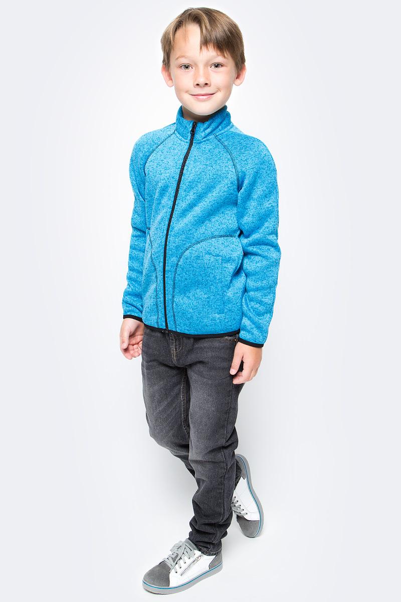 Толстовка флисовая для мальчика Oldos Active Бен, цвет: голубой. 4К1710. Размер 104, 4 года4К1710Толстовка на молнии из вязаного флиса OLDOS ACTIVE Бен для мальчика мальчика. С внешней стороны флис имеет вязаную фактуру, а с внутренней - ворсистую. Вязаный флис эффективно отводит влагу, защищает от ветра, держит тепло и позволяет коже дышать. Воротник-стойка хорошо прилегает и закрывает шею ребенка от ветра. Изнутри шов воротника укреплен х/б лентой, что предотвращает деформацию и натирание. Низ рукавов и кофты окантованы эластичной тесьмой, есть карманы. Толстовка приятна телу, мягкая и легкая. В изделии будет комфортно и тепло на улице и в помещении. Можно использовать в качестве второго слоя в осенне-зимний период.