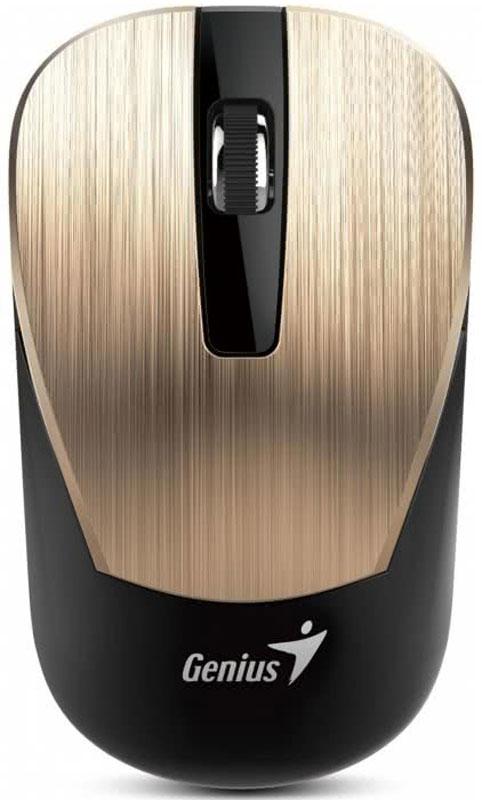 Genius NX-7015, Gold мышь беспроводная31030119103Мышь Genius NX-7015 подходит как для правой, так и для левой руки.Благодаря четкой форме легко лежит как в правой, так и в левой руке и обеспечивает максимальное удобство на протяжении всего дня.Благодаря технологии BlueEye с разрешением 1600 dpi мышь обеспечивает великолепную точность и работу практически на любом покрытии: на запыленном стекле или мраморе, на диване и даже на ковре.Приемник Genius NX-7015 можно использовать с другими беспроводными мышами Genius серии NX-7000 для дополнительной мобильности. Не придется беспокоиться, если приемник от этой беспроводной серии Genius потеряется.