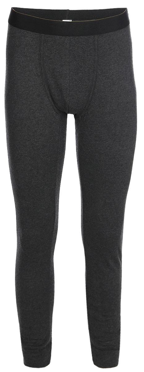 Термобелье брюки мужские Sela, цвет: черный меланж. LPUb-255/014-7462. Размер S (46)LPUb-255/014-7462Мужские термобрюки от Sela выполнены из натурального хлопкового трикотажа. Модель облегающего кроя на талии дополнена широкой эластичной резинкой.