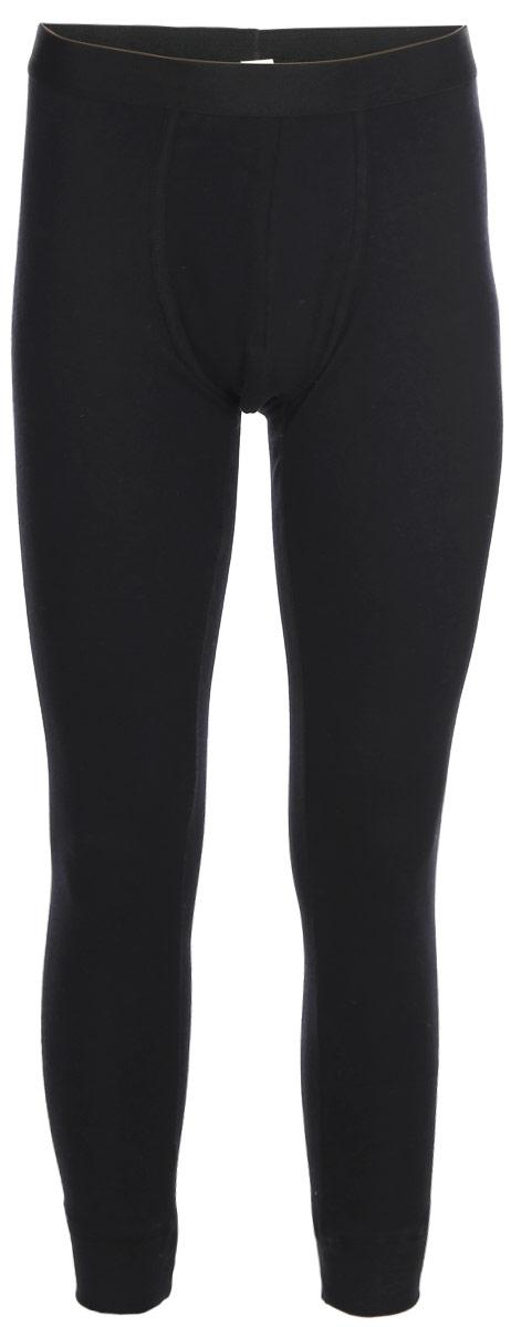 Термобелье брюки мужские Sela, цвет: черный. LPUb-255/014-7462. Размер S (46)LPUb-255/014-7462Мужские термобрюки от Sela выполнены из натурального хлопкового трикотажа. Модель облегающего кроя на талии дополнена широкой эластичной резинкой.