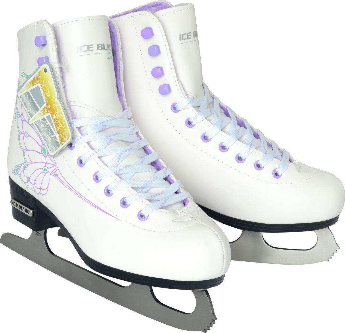 Коньки фигурные для девочки Ice Blade Luna, цвет: белый. Размер 30