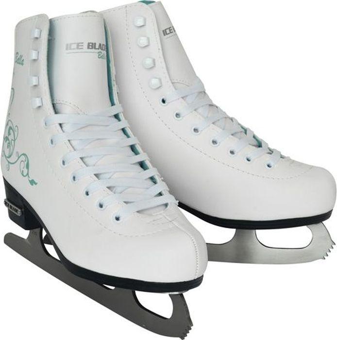 Коньки фигурные женские Ice Blade Bella, цвет: белый. Размер 35УТ-00010451Коньки классической формы Bella предназначены для любительского фигурного катания. Ботинок анатомической конструкции выполнен из высококачественной искусственной кожи. Увеличенная жесткость ботинка для более уверенного катания. Внутренняя набивка из специального материала, комфортно адаптирующегося к форме ноги. Внутренняя отделка из вельветина - современного мягкого материала. Яркий дизайн, удобный ботинок с мягкой меховой подкладкой и поддерживающей конструкцией сделают катание безопасным и комфортным. Предназначены для использования на открытом и закрытом льду.Основные характеристики:Назначение: фигурные коньки Тип фиксации: шнурки (наличие крючков) Цвет: белый с рисункомДополнительные характеристики:Материал ботинка: искусственная кожа высокого качества Внутренняя отделка: вельветин Лезвие: лезвие выполнено из высокоуглеродистой стали с покрытием из никеля Упаковка: удобная сумка Дополнительно: улучшенная колодка
