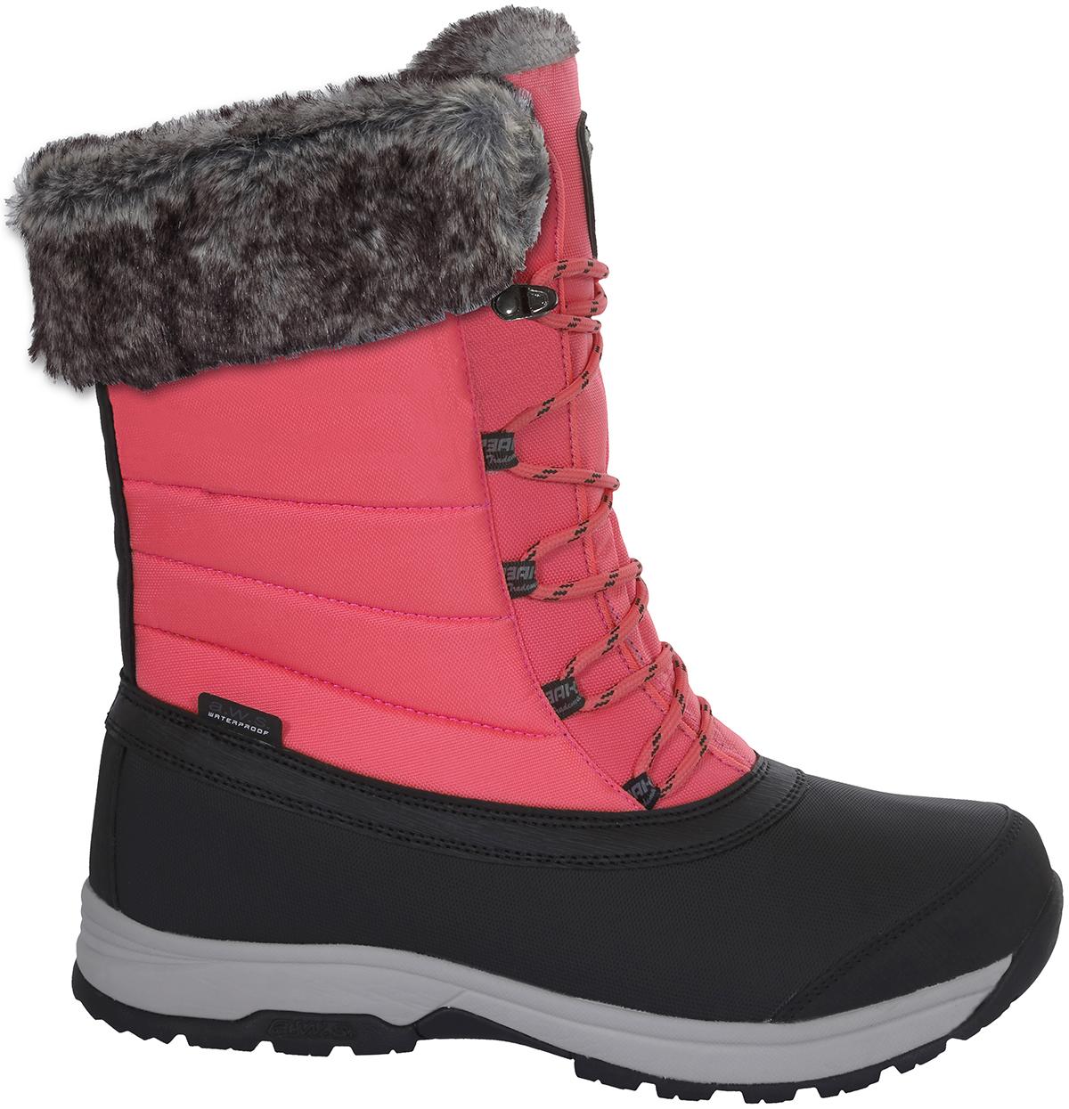 Ботинки женские Icepeak, цвет: розовый, черный. 875218100IV_635. Размер 36 (35)875218100IV_635Женские ботинки от Icepeak выполнены из водонепроницаемого нейлона и полиуретана. Модель фиксируется на ноге с помощью шнуровки. Подкладка из искусственного меха и войлочная стелька обеспечивают мягкость и тепло. Стойкая к истиранию, прочная резиновая подошва гарантирует отличное сцепление с поверхностью.