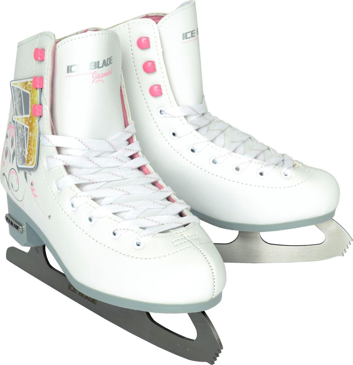 """Коньки фигурные женские Ice Blade """"Jasmine"""", цвет: белый. Размер 40"""