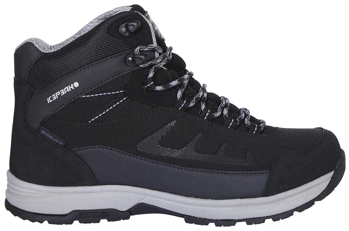 Ботинки мужские Icepeak, цвет: черный. 878226100IV_990. Размер 45 (44)878226100IV_990