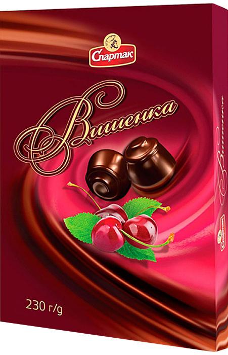 Спартак Вишенка набор конфет с начинкой, 230 г спартак набор шоколадных конфет 300 г