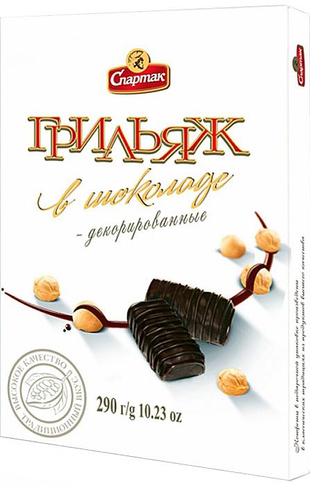 Спартак Грильяж в шоколаде набор конфет, 290 г4424Шоколадная глазурь, хрустящая сладкая масса и твердый лесной орешек придают этой конфете тот самый неповторимый вкус.