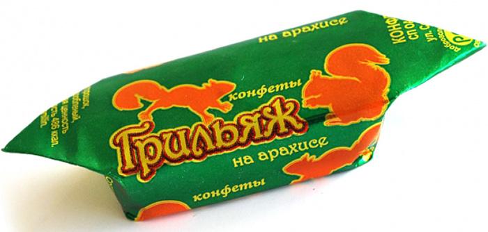 Спартак Грильяж на арахисе конфеты, 150 г веселый тоша конфеты вафельные глазированные со сгущенным молоком 250 г