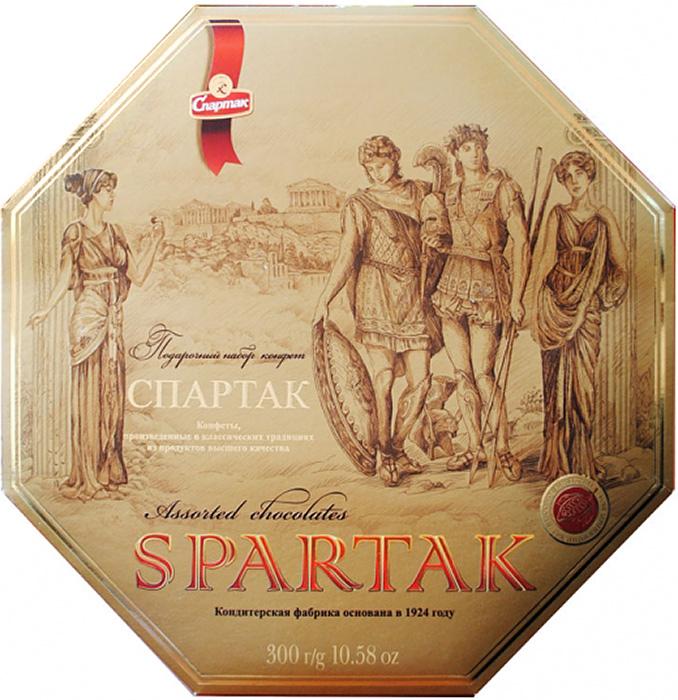 Спартак набор шоколадных конфет, 300 г kinder mini mix подарочный набор 106 5 г