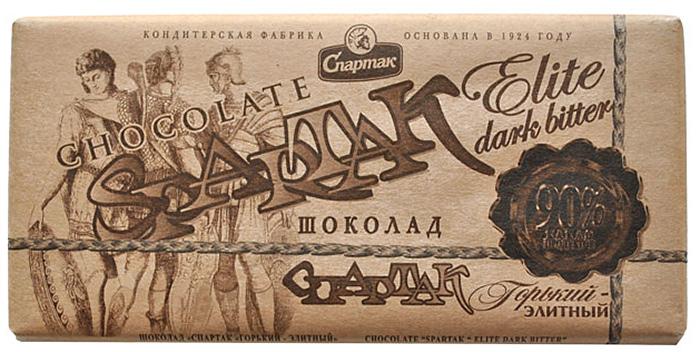 Спартак шоколад горький 90%, 90 г лакомства для здоровья шоколад горький с кунжутом 100г