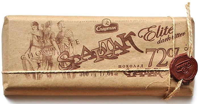 Спартак шоколад горький, 500 г4663Горький элитный шоколад - истинный аристократ в огромном шоколадном семействе. Обострённо выраженный вкус какао, горькая нота превалирует над сладкой. Этот шоколад содержит 72% какао-продуктов и 100% незабываемого вкуса.