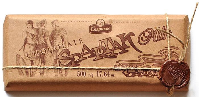 Спартак шоколад молочный, 500 г6352Нежно шоколадный... молочный шоколад. Он дарит легкость и воодушевленность, что не может оставить никого равнодушным. Содержание какао-продуктов не менее 35%.