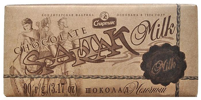 Спартак шоколад молочный, 90 г райская птица молочный шоколад 38% с клубникой 85 г