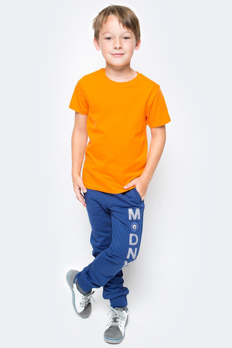 Футболка для мальчика Cherubino, цвет: оранжевый. CAJ 6931. Размер 140CAJ 6931Футболка для мальчика Cherubino выполнена из мягкого и приятного на ощупь материала - кулирки (100% хлопок). Модель лаконичного дизайна с короткими рукавами и круглым вырезом горловины. Такая футболка прекрасно дополнит базовый гардероб вашего ребенка.