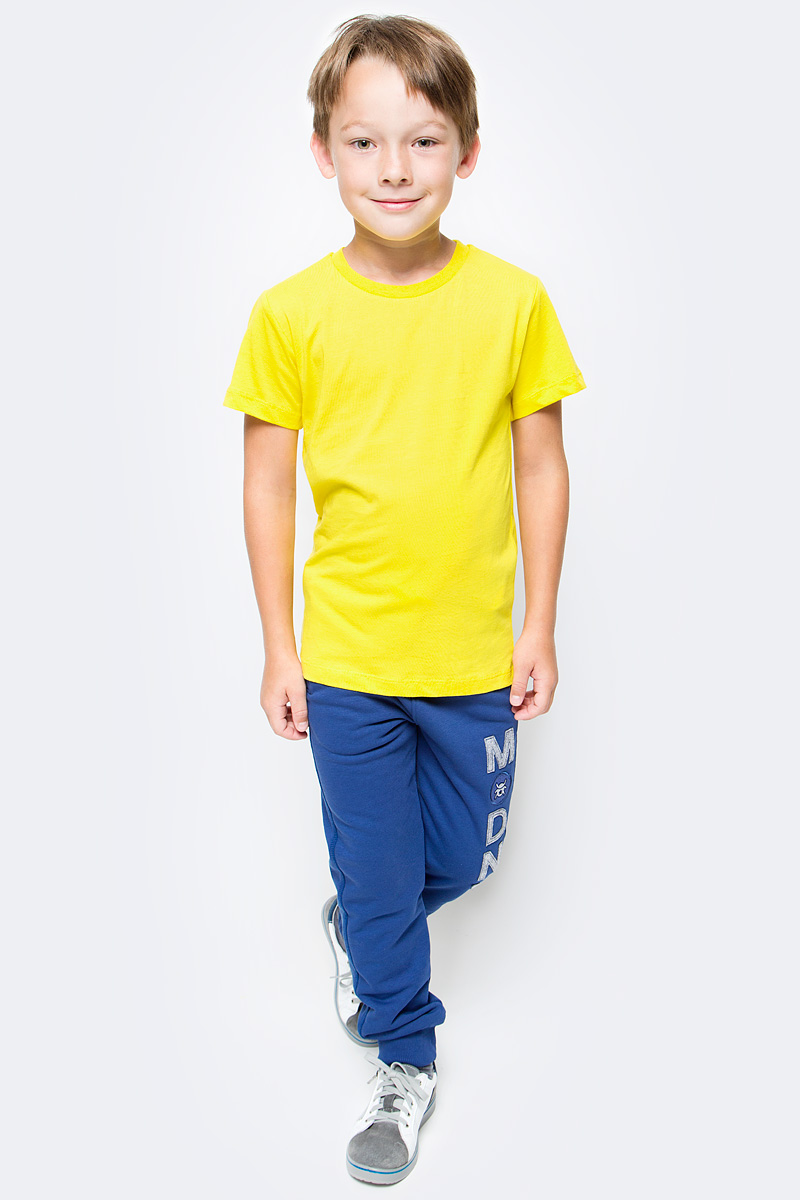 Футболка для мальчика Cherubino, цвет: желтый. CAJ 6931. Размер 152
