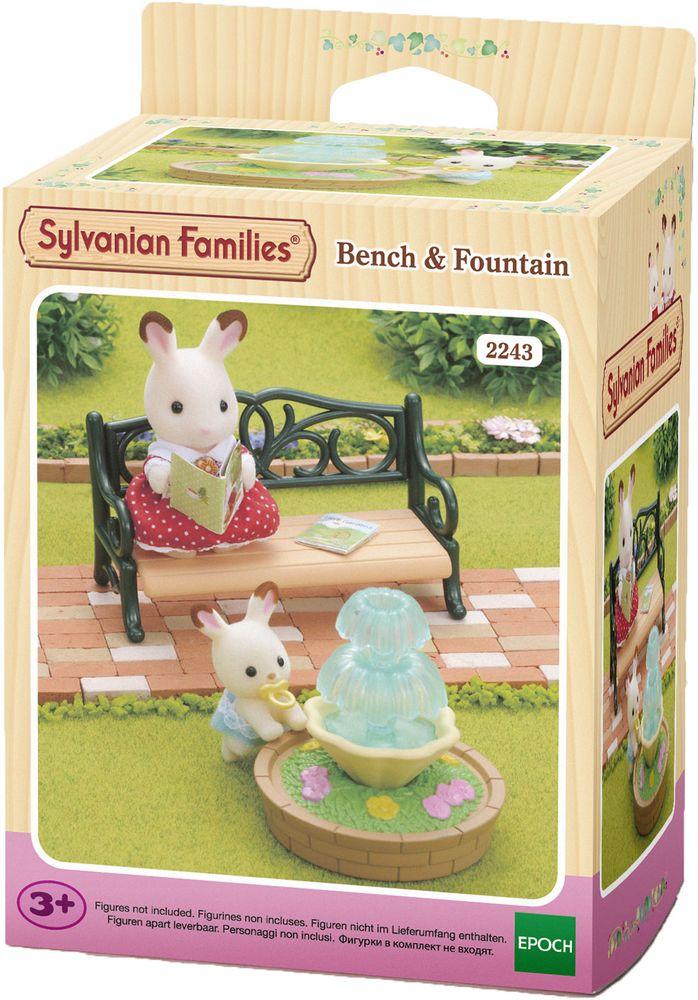 Sylvanian Families Игровой набор Фонтан и скамейка игровые наборы sylvanian families игровой набор малыш той пудель