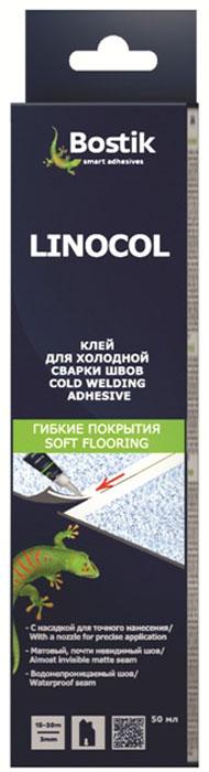Герметик Bostik Linocol, для склеивания швов ПВХ, 0,05 л000798Клей для склеивания швовОднокомпонетный клей для холодного сваривания швов ПВХ-покрытий. Применяется для покрытий бытового назначения, как для плотнорезанных швов, так и швов толщиной до 4мм. Используется для заделки швов стеновых покрытий из плотного ПВХ. Пригоден для ремонта повреждений ПВХ-покрытий, линейного приклеивания ПВХ-покрытий в труднодоступных местах (входы/выходы коммуникаций и систем отопления т.п., ремонта различных элементов из ABS-пластика). - Удобен для применения в труднодоступных местах- Упаковка со специальным носиком для удобства нанесения.