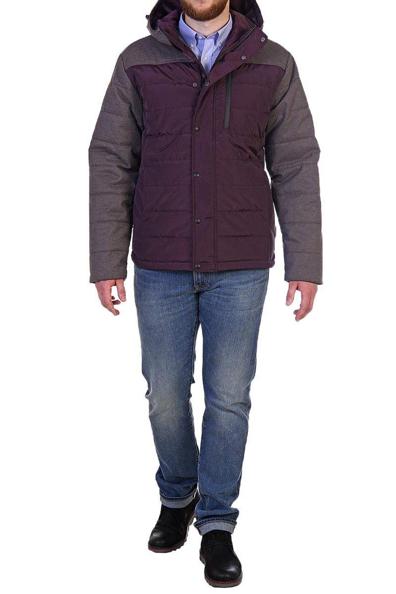 Куртка мужская Xaska, цвет: бордовый. 17716. Размер 5617716_Wood bordoКуртка средней длины на утеплителе Termofinn Plus. Модель с несъемным капюшоном застегивается на застежку-молнию и дополнительно ветрозащитным клапаном на кнопки. Капюшон регулируется с помощью шнурка со стопперами. На груди расположен накладной карман на застежке-молнии.
