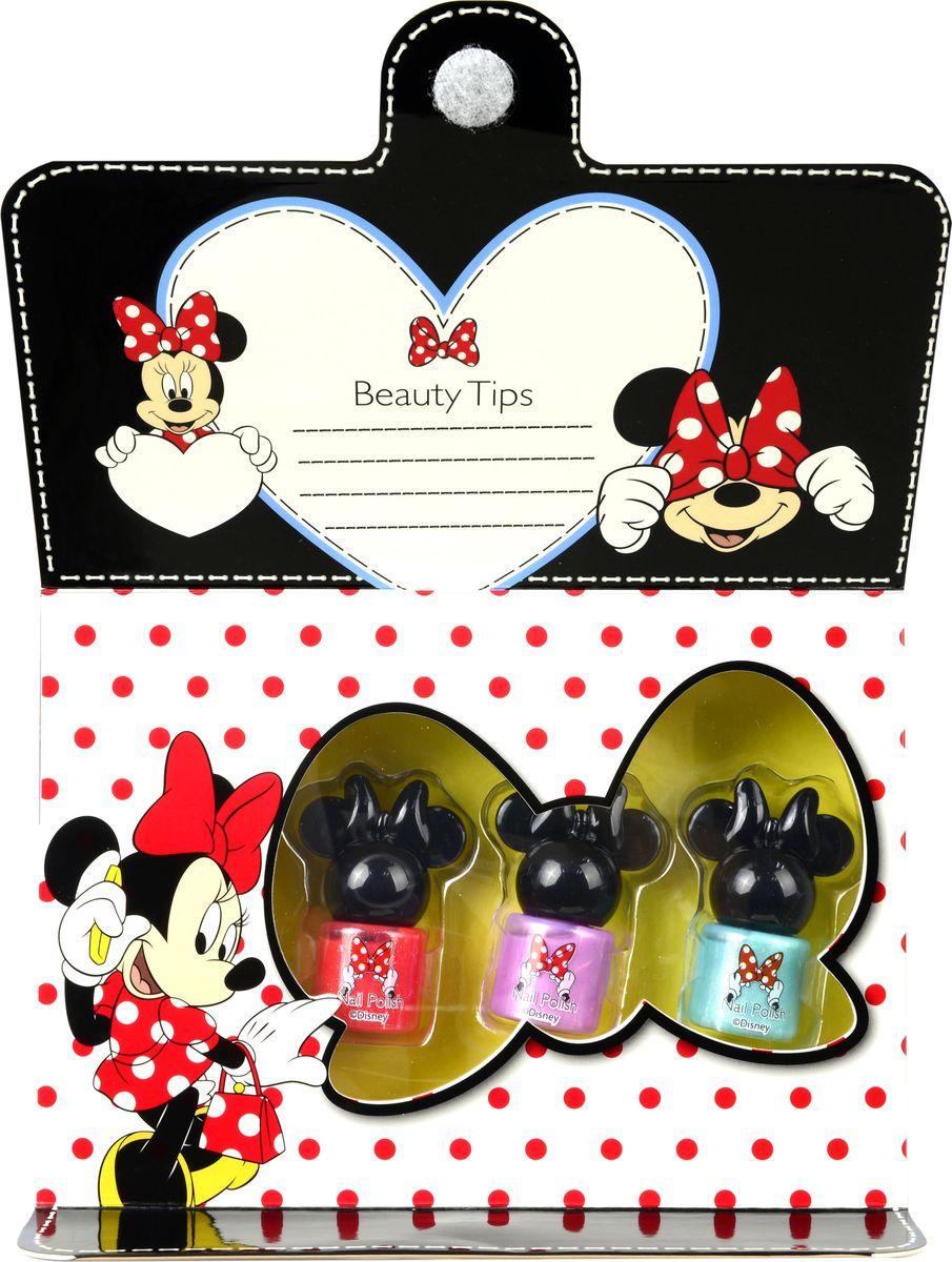 Markwins Игровой набор детской декоративной косметики Minnie 97030519703051Состав набора: лаки на водной основе для ногтей 3 шт.