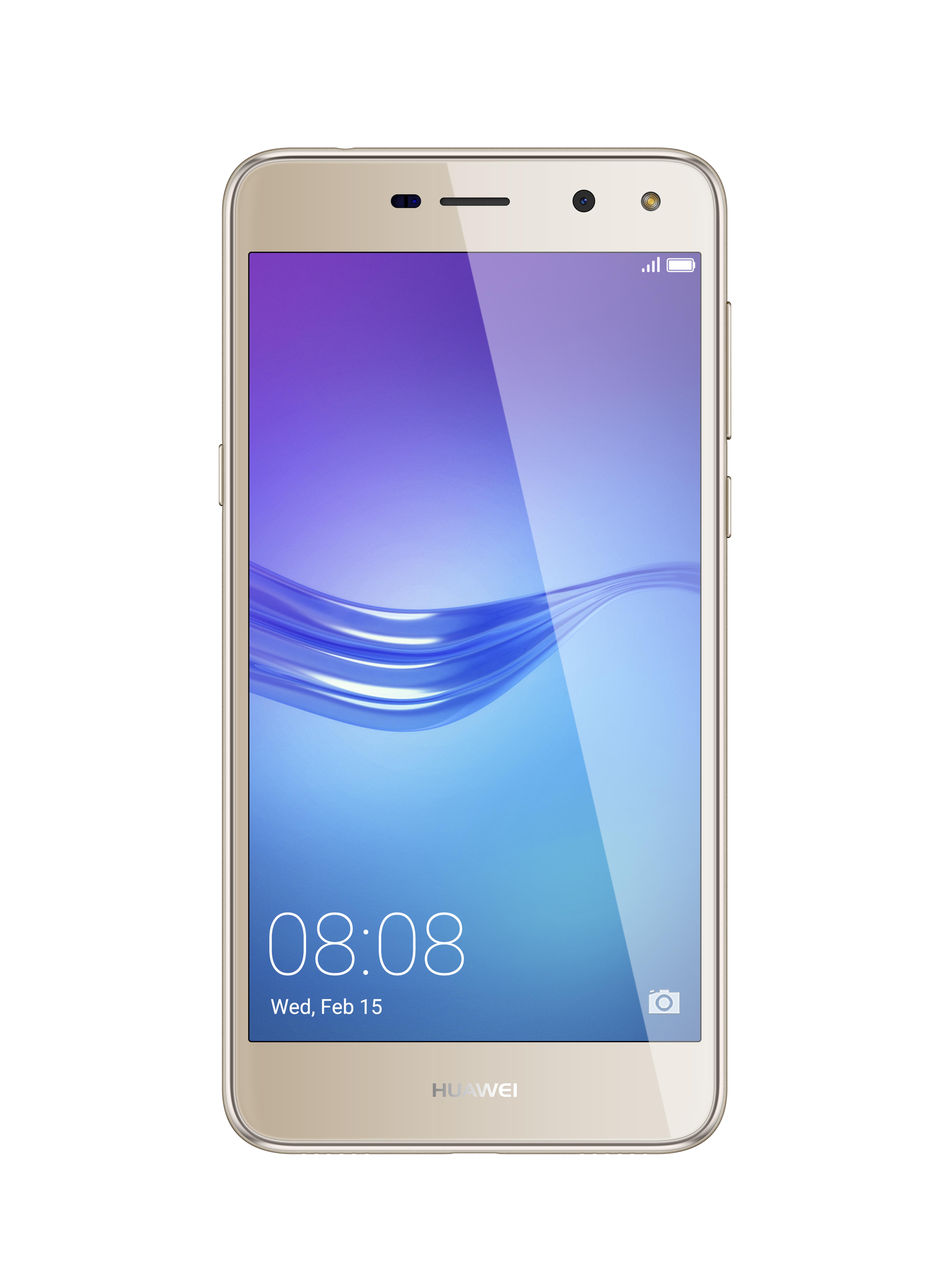 Huawei Y5 2017, Gold51050NFEСмартфон Huawei Y5 отлично подходит для тех, кому важно качество воспроизводимого видео и комфорт в мобильных играх. Он снабжён 5-дюймовым экраном, на базе IPS-матрицы. Эта технология делает изображение очень реалистичным за счёт расширенной цветовой гаммы и большой контрастности под каким бы углом вы ни смотрели на дисплей. НАЧИНКАМощный процессор и большой объём оперативной памяти обеспечивают быстродействие системы даже в режиме многозадачности. Передатчик 4G позволяет получать доступ к интернету в деловых поездках и путешествиях.КАЧЕСТВЕННЫЕ СНИМКИОсновная 8-мегапиксельная камера с яркой вспышкой позволяет получать детализированные кадры даже при слабом освещении. Фронтальная камера на 2 Мп может использоваться как для видеосвязи, так и для создания качественных селфи. АВТОНОМНОСТЬУстройство не требует подзарядки при активном использовании в течение всего дня. Оно снабжено аккумулятором с ёмкостью 3 000 мАч, а также поддерживает работу в режиме энергосбережения.
