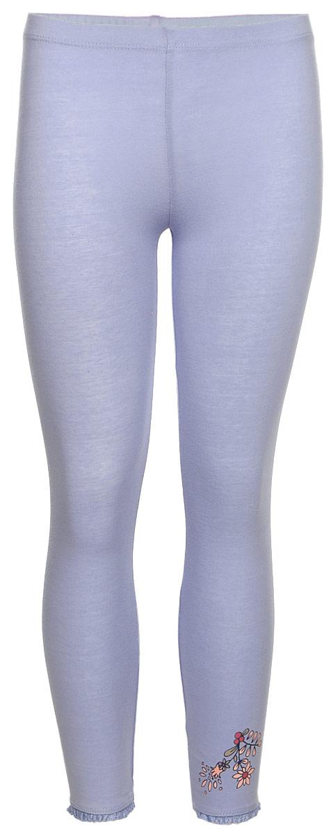Леггинсы для девочки Sela, цвет: сиреневый. PLG-515/393-7321. Размер 116PLG-515/393-7321Леггинсы для девочки от Sela выполнены из эластичного хлопка. Модель облегающего кроя на талии дополнена эластичной резинкой.
