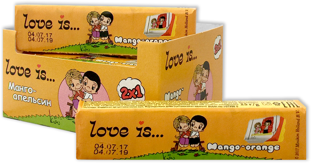 Love is жевательные конфеты Манго-Апельсин, 12 шт манго производство таиланд 1 шт