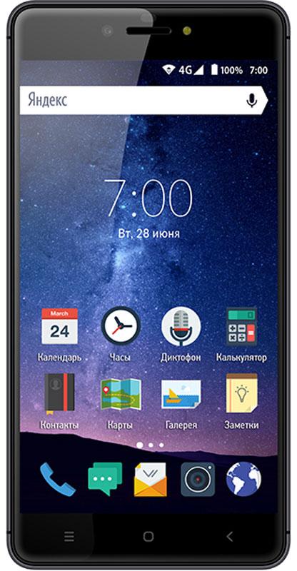 Vertex Impress Lux, TitanIMLUX-TIVertex Impress Lux - стильный 4G смартфон в металлическом корпусе и с Full HD дисплеем.Смартфон оснащен металлическим корпусом, что обеспечивает огромный запас прочности и придает модели Impress Lux надежности. Толщина корпуса при этом всего 8,3 мм. Сам корпус выглядит привлекательно и стильно.Большой и яркий IPS дисплей размером 5,5 дюймов дополняет изящный образ смартфона и позволяет максимально комфортно использовать возможности модели. Экран защищен 2.5D стеклом, которое имеет закругленные края. Это позволяет более комфортно использовать сенсорный экран. Разрешение Full HD обеспечивает широкие углы обзора, а также высокую контрастность изображений и качественную цветопередачу. Смартфон Impress Lux оснащен мощным аккумулятором емкостью 3100 мАч, что обеспечивает длительное время работы смартфона в активном режиме.Благодаря 4-х ядерному процессору модель превосходно справляется с решением повседневных задач.Мощность процессора обеспечивает бесперебойную работу операционной системы и установленных приложений. Смартфон оснащен 2 ГБ оперативной памяти и 16 ГБ встроенной, что позволяет эффективно использовать возможности интерфейса: Интернет, игры, приложения, фото и видео съемка, электронные книги и прочие дополнительные smart-функции. Смартфон получил операционную систему Android 6.0 Marshmallow и эксклюзивный интерфейс Impress UI. ОС стала еще более функциональной и удобной для пользователя.Смартфон Impress Lux поддерживает высокоскоростной 4G интернет, что обеспечивает быструю передачу данных. Благодаря доступу к сетям LTE веб-серфинг стал еще проще и комфортнее: игры, фильмы, социальные сети - все намного быстрее!Наличие двух камер 13 МП и 5 МП дает возможность делать отличные фото, снимать видео, совершать видеозвонки, общаться c друзьями. Дополнительные преимущества основной камеры: светодиодная вспышка и автофокус.Для того, чтобы вы смогли всегда оставаться на связи Impress Lux поддерживает работу двух SIM-карт, активных в режи