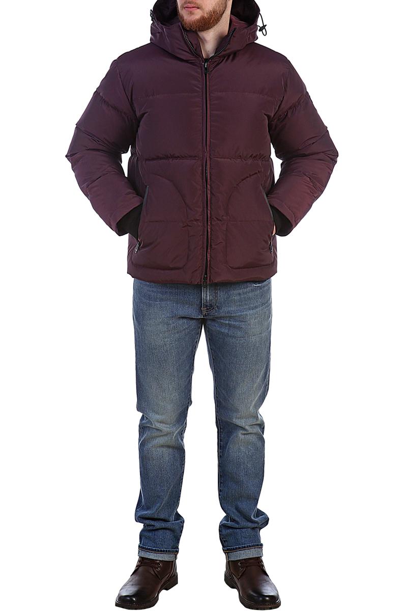 Пуховик мужской Xaska, цвет: бордовый. 17709. Размер 4617709_Wood bordoКуртка пуховая короткая выполнена из высококачественного материала. Модель с несъемным капюшоном застегивается на застежку-молнию. Капюшон регулируется с помощью шнурка со стопперами. Регулировка по низу куртки. Спереди расположены карманы.