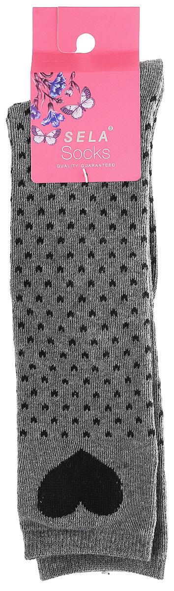 Гольфы для девочки Sela, цвет: темно-серый. SOKL-4/190-7311. Размер 18/20SOKL-4/190-7311Гольфы для девочки от Sela выполнены эластичного хлопкового трикотажа. Модель дополнена усиленными пяткой и мыском, и широкой резинкой не давящей на ножку.