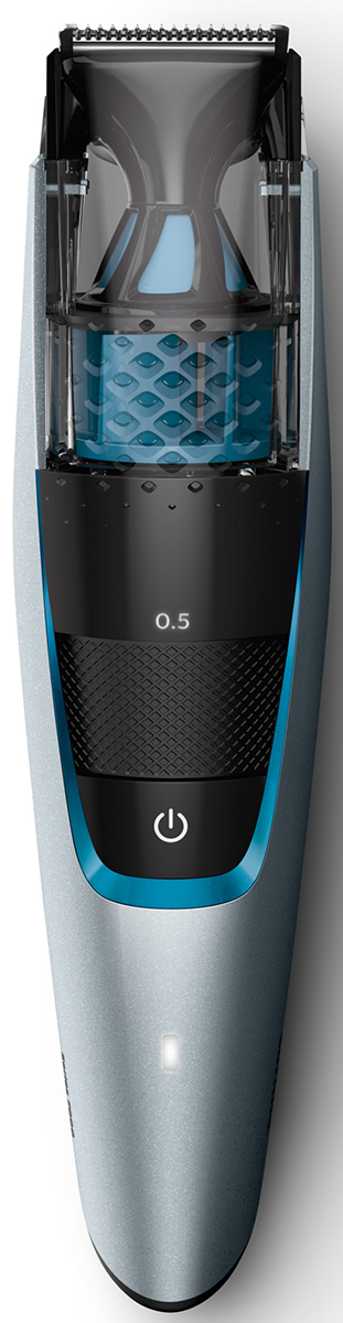 Philips BT7210/15 триммер для бороды с вакуумной системой для сбора волосковBT7210/15С помощью триммера Philips BT7210/15 вы сможете подровнять бороду, усы и бакенбарды, сохранив пространство в чистоте. Мощная вакуумная система собирает волоски во время процедуры, обеспечивая аккуратное подравнивание без лишних хлопот.Подравнивайте щетину одним быстрым движением: наша инновационная система Lift&Trim приподнимает волоски и направляет их к лезвиям из нержавеющей стали с двойной заточкой. Результат — ровная щетина или подравнивание всего одним движением.Прочные стальные лезвия с двойной заточкой легко срезают даже густые волосы и прослужат вам в течение долгого времени. Они затачиваются самостоятельно, слегка касаясь друг друга во время работы прибора.Выберите нужную установку длины (0,5–10 мм) с шагом 0,5 мм: поворачивайте регулятор на ручке, пока не отобразится индикация длины. Выбранная установка будет зафиксирована, и вы сможете добиться идеального результата подравнивания.Зарядка триммера для бороды Philips BT7210/15 в течение 1 часа обеспечивает 75 минут автономной работы. Если вам необходима длительная обработка, просто подключите триммер к сети. Триммер может работать как в беспроводном режиме, так и от сети электропитания. Индикатор аккумулятора указывает на его состояние: триммер заряжен, заряжается или заряд аккумулятора низкий.После подравнивания просто установите компактный триммер и завершите образ, создав четкие линии и контуры, или установите на триммер гребень для точного подравнивания, чтобы обработать усы.По завершении процедуры просто сполосните лезвия и гребень под водой, очистите встроенную камеру и стряхните оставшиеся волоски с помощью прилагающейся щеточки для очистки — это обеспечит качественную работу прибора в течение долгого времени.На триммер Philips BT7210/15 распространяется 2-летняя гарантия. Все приборы по уходу за собой от Philips созданы для долгой службы. Устройство работает при напряжении разных стандартов и не требует смазки.