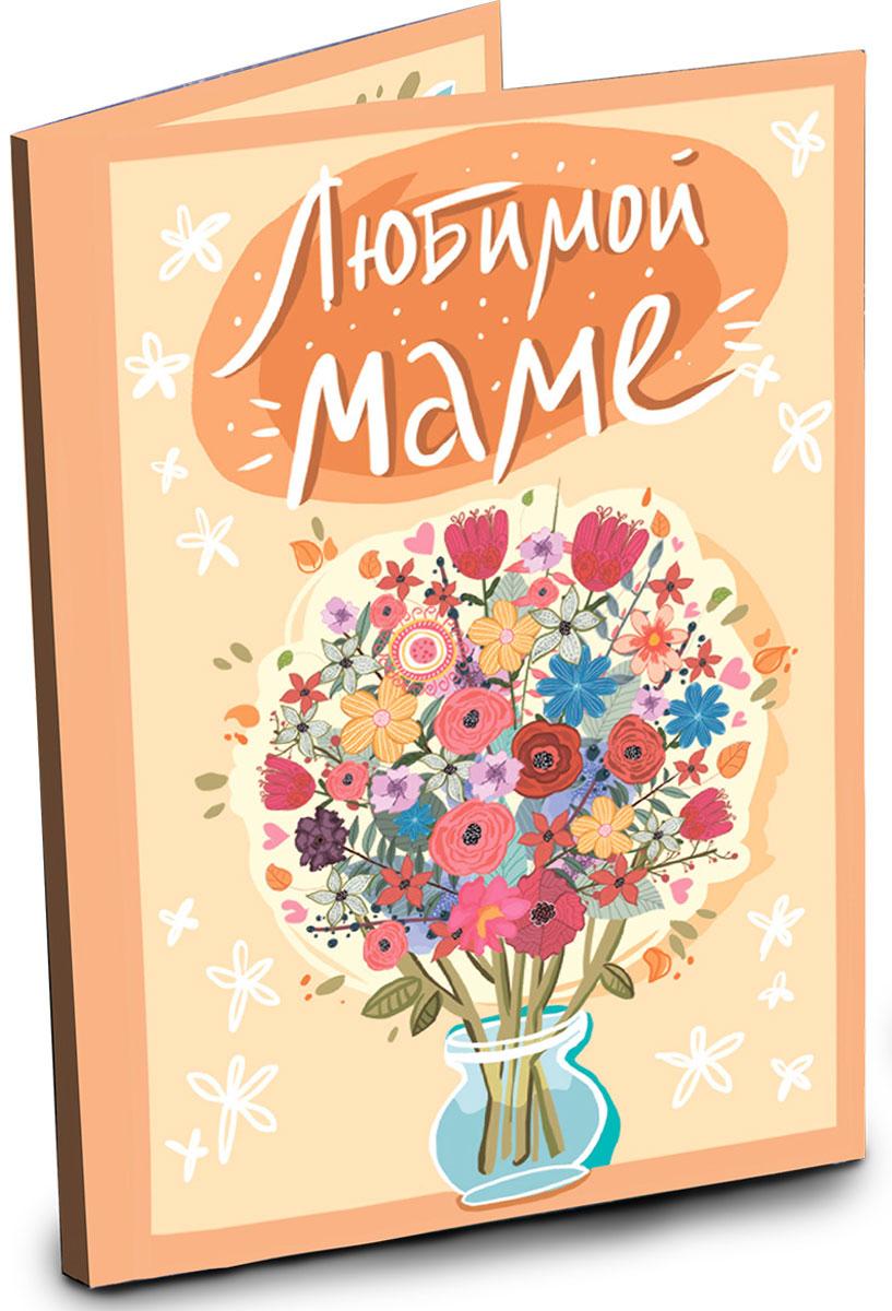 Chokocat Любимой маме открытка с шоколадом, 20 гОТК009Открытка с ярким букетом для любимой мамы. Внутри теплые слова благодарности и 4 молочных шоколадки по 5 грамм.