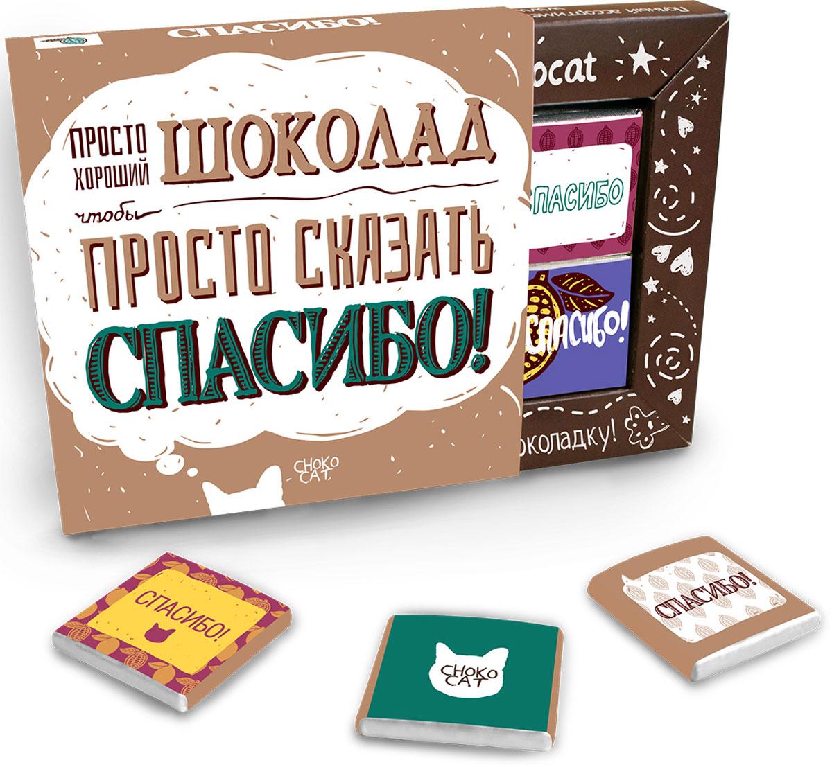 Chokocat Спасибо молочный шоколад, 60 г chokocat чтобы все сбылось молочный шоколад 100 г