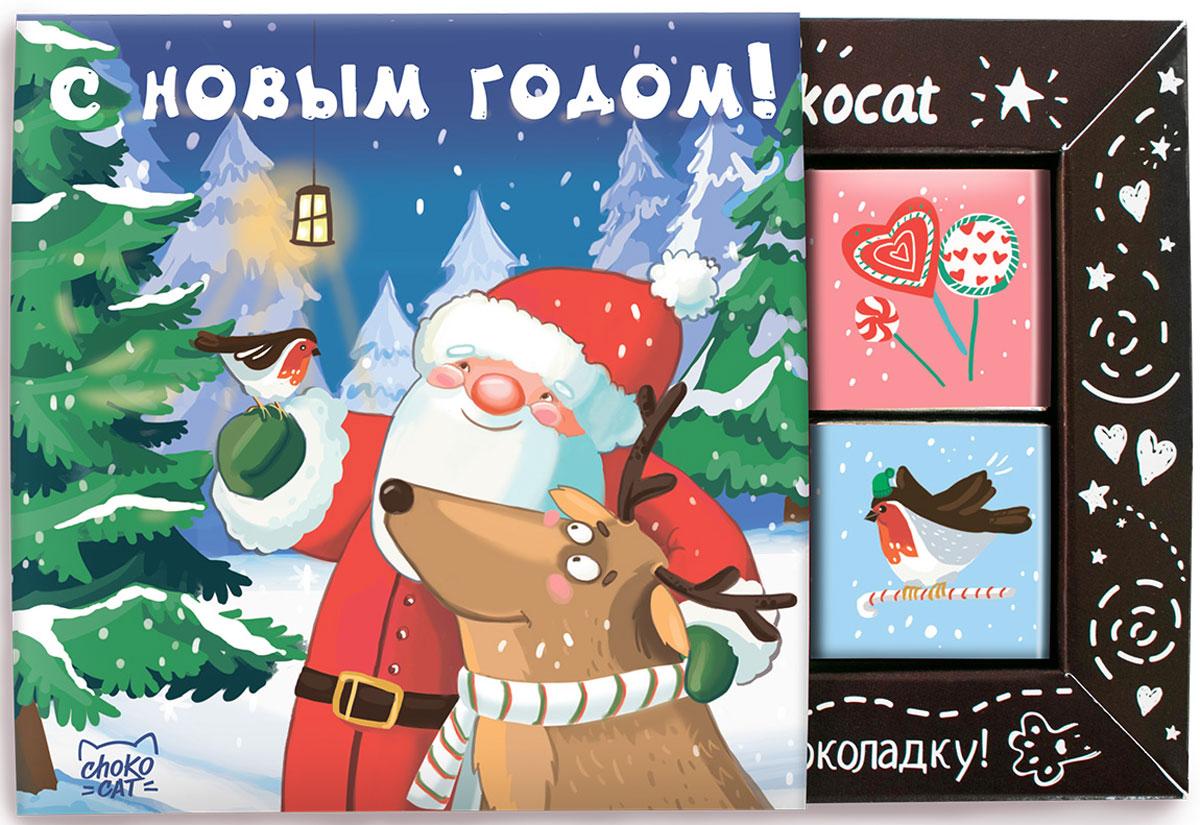 Chokocat Дед Мороз молочный шоколад, 60 г chokocat спасибо молочный шоколад 60 г