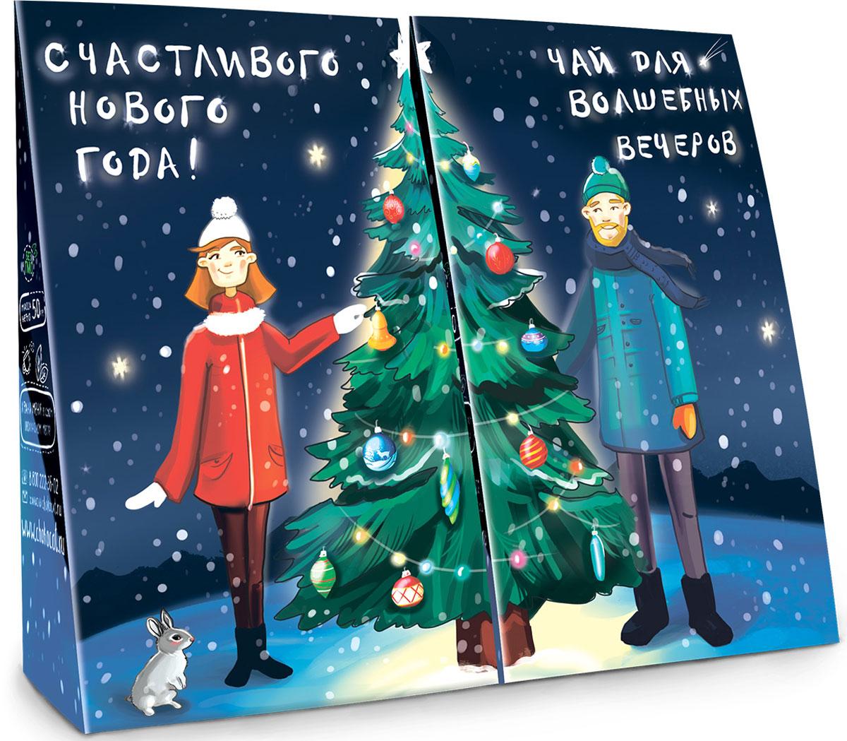 Chokocat Для пары чай для нее и для него, 50 гЧАЙ023Новогодний Чай Для пары продается только вместе для него и для нее. В 2 раза больше чая и удовольствия! На обратной стороне пожелания и поздравления С Новым Годом.
