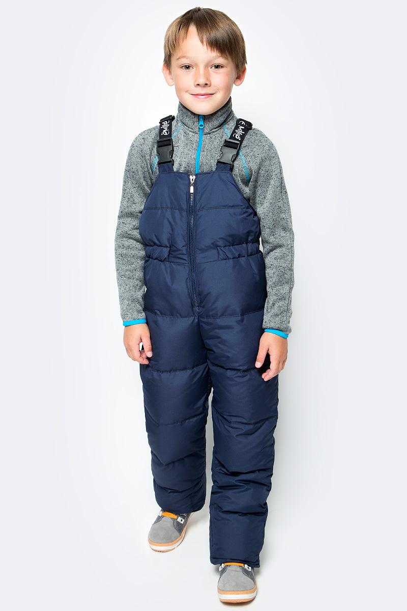 Полукомбинезон для мальчика Ёмаё, цвет: темно-синий. 47-122. Размер 12847-122Стильный полукомбинезон для мальчика, изготовленный из ветрозащитной ткани на подкладке из полиэстера с утеплителем из пуха с небольшим добавлением пера. Полукомбинезон с высокой грудкой застегивается на застежку-молнию и имеет широкие наплечные лямки, регулируемые по длине. Штанины понизу дополнены внутренними широкими резинками.