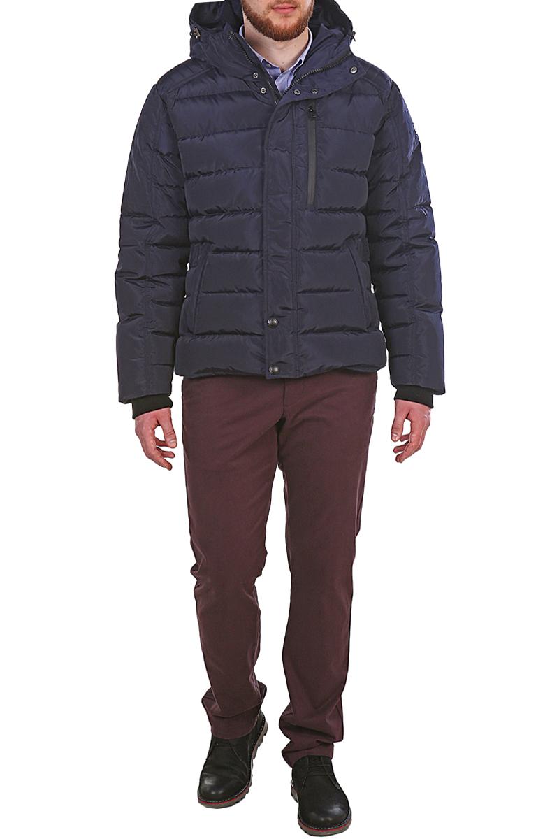 Пуховик мужской Xaska, цвет: темно-синий. 17707. Размер 4617707_NavyКуртка пуховая короткая. Капюшон не отстегивается. Регулировка по низу куртки.