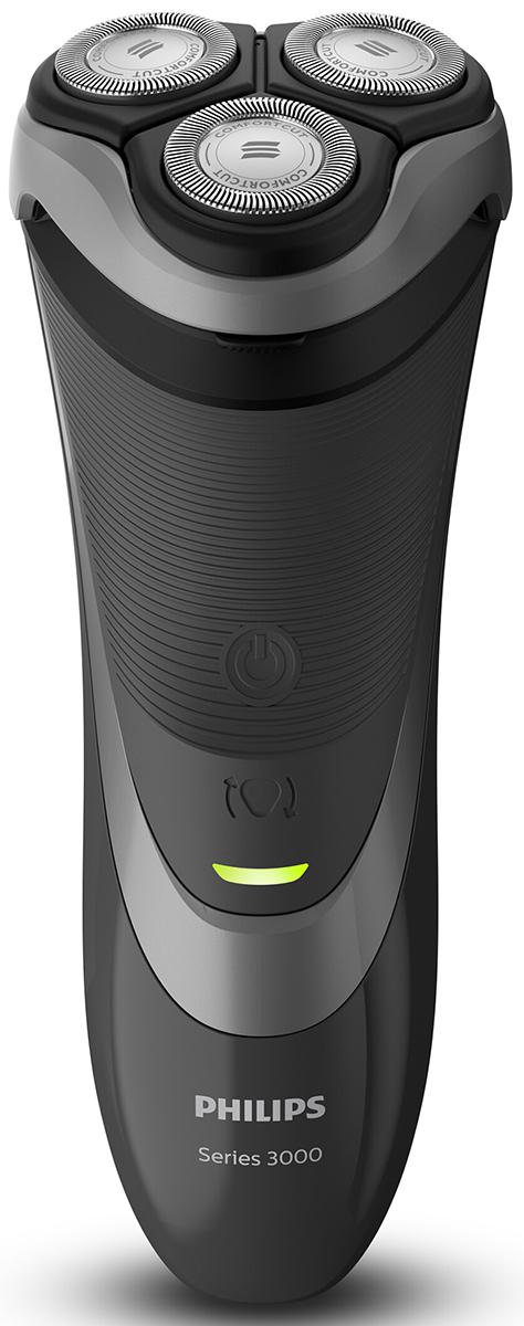 Philips S3510/06 электробритва с откидным триммеромS3510/06Бритва Philips S3510/06 обеспечивает более комфортное бритье по доступной цене. Гибкие головки движутся в 4 направлениях, а благодаря системе лезвий ComfortCut вам гарантирован качественный результат.Комфортное сухое бритье достигается благодаря системе лезвий ComfortCut с закругленными краями бритвенных головок. Лезвия легко скользят по коже и защищают ее от порезов. Гибкие головки двигаются в 4 направлениях независимо друг от друга, повторяя контуры лица и обеспечивая простое бритье даже на шее и подбородке.Благодаря мощному, энергоэффективному литий-ионному аккумулятору бритва Philips S3510/06 долгие годы будет работать как новая. Зарядка в течение одного часа обеспечивает от 50 минут работы (примерно 17 сеансов бритья). Вы также можете использовать прибор, подключив его к сети питания.Бритва очень проста в уходе - для очистки просто откройте головки и тщательно промойте их под струей воды. Устройство работает от сети и от аккумулятора: выбирайте удобный автономный режим работы при полной зарядке аккумулятора или проводной режим для использования бритвы во время зарядки.Создайте завершенный образ с помощью откидного триммера - идеальное решение для подравнивания усов и висков.Как выбрать электробритву. Статья OZON Гид