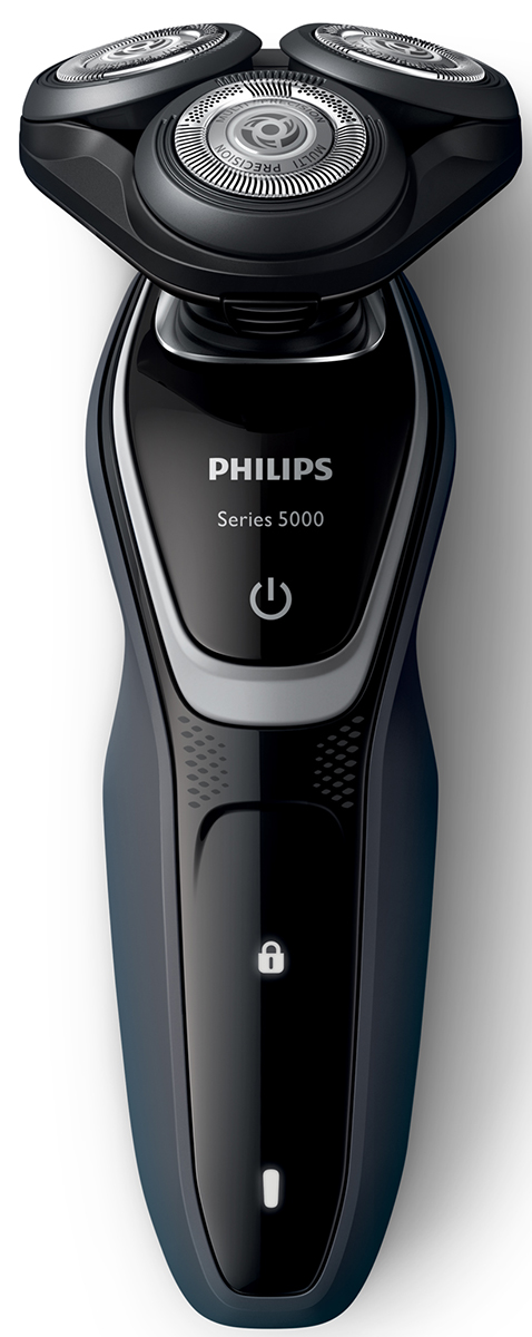 Philips S5110/06 электробритва с насадкой-триммеромS5110/06Лезвия электробритвы Philips S 5110/06 приподнимают длинные и короткие волоски для невероятно быстрого бритья. Система лезвий MultiPrecision в несколько движений приподнимает и срезает волоски и щетину. Головки Flex двигаются независимо друг от друга в 5 направлениях. Это гарантирует оптимальный контакт с кожей для быстрого и гладкого бритья даже на шее и подбородке.Система двойных лезвий Super Lift & Cut обеспечивает идеально чистое и гладкое бритье. Первое лезвие приподнимает волоски, а второе — аккуратно срезает их у самого основания. Чтобы завершить образ, используйте безопасный для кожи съемный компактный триммер. Он идеально подходит для моделирования усов и подравнивания висков.На интуитивно понятном дисплее Philips S 5110/06 отображается вся необходимая информация, что позволяет в полной мере использовать все возможности вашей бритвы: одноуровневый индикатор аккумулятора, индикатор очистки, индикатор низкого заряда аккумулятора, индикатор замены головки, индикатор дорожной блокировки. Один цикл зарядки обеспечивает от 40 минут работы или 13 сеансов бритья. Вы также можете использовать прибор, подключив его к сети питания.Мощный энергоэффективный и долговечный литий-ионный аккумулятор обеспечивает долгое время работы бритвы после каждой зарядки. Быстрой зарядки в течение 5 минут хватает для проведения одного сеанса бритья. Бритву можно мыть под проточной водой Просто откройте головки и тщательно промойте под струей воды.На бритвы Philips S 5110/06 распространяется 2-летняя гарантия. Приборы поддерживают напряжения разных стандартов. Долговечные лезвия необходимо менять лишь раз в 2 года.