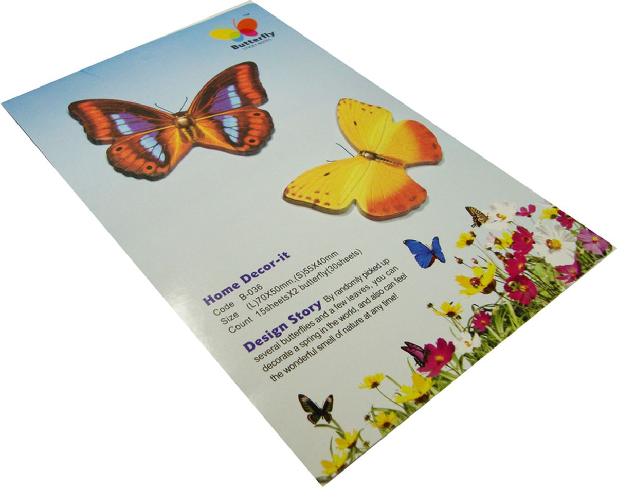 Карамба Набор стикеров 2 бабочки 1 30 шт004052Набор стикеров выполнен в виде 2 видов бабочек, каждая из которых состоит из 10-20 листочков.