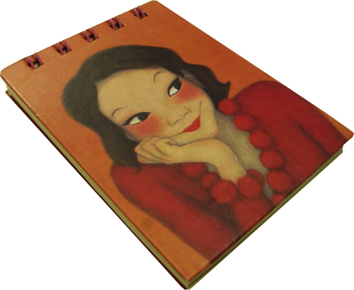 Карамба Блокнот Девочка в красном платье 80 листов в линейку блокнот любовное послание 80 листов