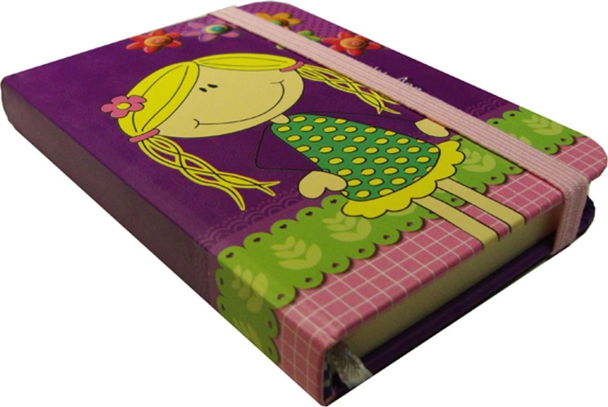 Карамба Блокнот Девочка на фиолетовом фоне 80 листов в линейку004172