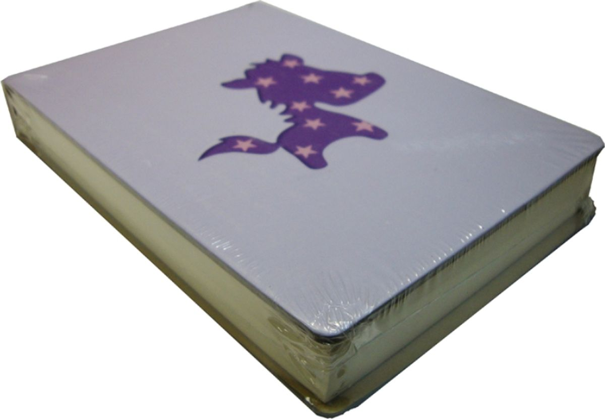 Карамба Блокнот С лошадкой цвет фиолетовый 108 листов004784