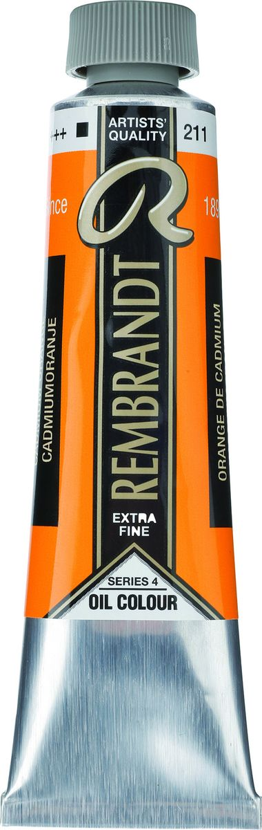 Royal Talens Краска масляная Rembrandt цвет 211 Кадмий оранжевый 40 мл01052112Масляные краски Rembrandt – это профессиональные краски исключительно высокого качества и традиций производства с 1899 г. Благодаря высокой концентрации натурального пигмента достигается чистота, насыщенность и глубина цвета. Широкая цветовая палитра и отличный баланс укрывистых и прозрачных оттенков позволят воплотить любые замыслы художника. Работы, написанные масляными красками Rembrandt, на долгие годы сохранят свое великолепие, а цвета не потускнеют и не потеряют интенсивности.Уровень Artist. Основные характеристики:Оптимальная интенсивность цвета с высокой концентрацией пигмента (не содержит наполнителей)Максимальная светостойкость (гарантия сохранения цвета у большинства оттенков – 100 лет)Единая степень вязкостиПалитра из 120 цветов