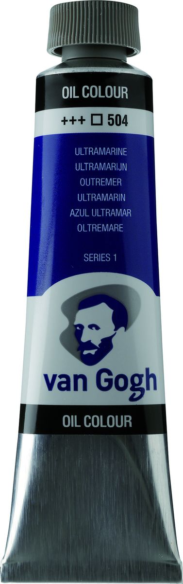 Royal Talens Краска масляная Van Gogh цвет 504 Ультрамарин 40 мл02055043Масляные краски Van Gogh – это современная линейка ярких и насыщенных оттенков с высоким содержанием пигмента. Все краски обладают одинаковой степенью плотности, прекрасно смешиваются между собой, с ними легко работать. Цветовой диапазон включает как укрывистые так и прозрачные краски, что позволяет создать эффект глубины картины.Основные характеристики:Высокое содержание пигментовСветостойкие (гарантия сохранения цвета у большинства оттенков - 100 лет)Яркие, интенсивные оттенкиРавномерная степень блеска и плотности цветов Палитра из 66 цветов
