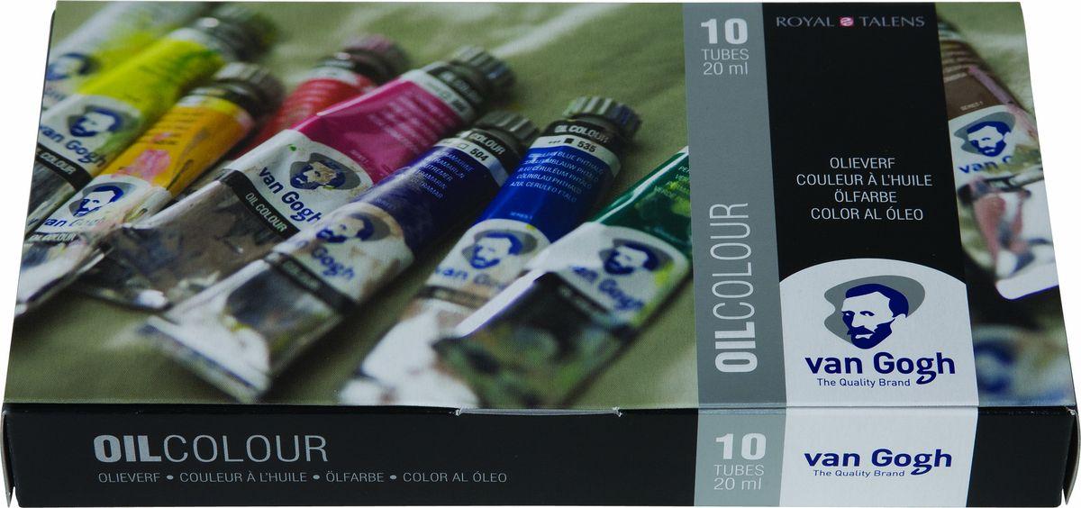 Royal Talens Набор масляных красок Van Gogh Базовый 10 цветов 0282041002820410Масляные краски Van Gogh – это современная линейка ярких и насыщенныхоттенков с высоким содержанием пигмента. Все краски обладают одинаковойстепенью плотности, прекрасно смешиваются между собой, с ними легкоработать. Цветовой диапазон включает как укрывистые так и прозрачные краски,что позволяет создать эффект глубины картины.