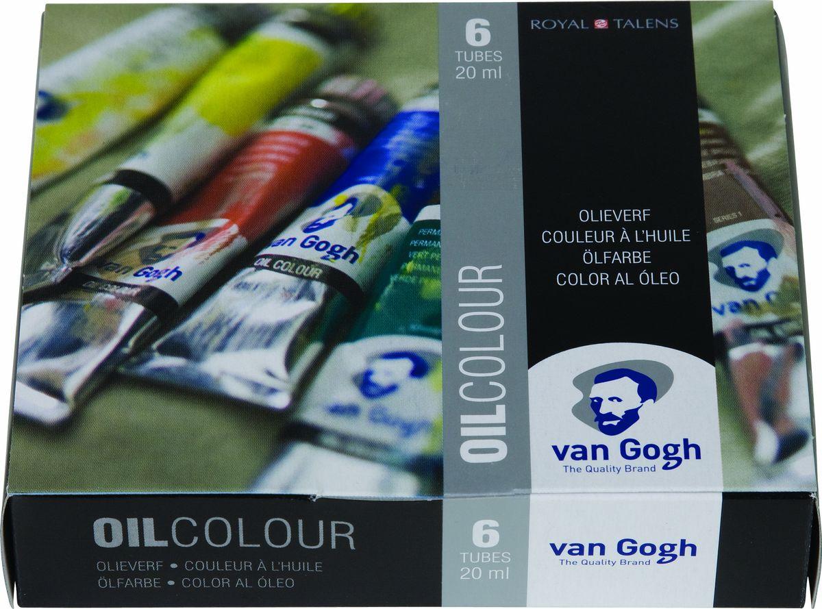 Royal Talens Набор масляных красок Van Gogh Стартовый 6 цветов02821406Масляные краски Van Gogh – это современная линейка ярких и насыщенных оттенков с высоким содержанием пигмента. Все краски обладают одинаковой степенью плотности, прекрасно смешиваются между собой, с ними легко работать. Цветовой диапазон включает как укрывистые так и прозрачные краски, что позволяет создать эффект глубины картины.Основные характеристики:Высокое содержание пигментовСветостойкие (гарантия сохранения цвета у большинства оттенков - 100 лет)Яркие, интенсивные оттенкиРавномерная степень блеска и плотности цветов Палитра из 66 цветов