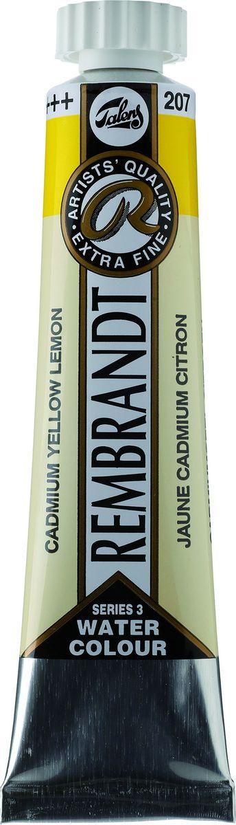Royal Talens Акварель Rembrandt цвет 207 Кадмий желтый лимонный 20 мл05042070Акварельные краски Rembrandt – это профессиональная акварель, обладающая всеми качествами, которые необходимы современным художникам. Каждый цвет состоит лишь из одного сконцентрированного пигмента и гуммиарабика (аравийской камеди), созданного по уникальной технологии. Краски отличаются высокой степенью светостойкости, прозрачности, обеспечивают отличную цветопередачу.Акварель Rembrandt хорошо ложится на бумагу, позволяя художнику контролировать расход краски с любой сложной фактурой. Уровень Artist.